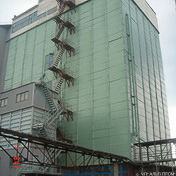 The renovated grain elevator (Izum)