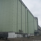 The renovated grain elevator (Starobelsk)