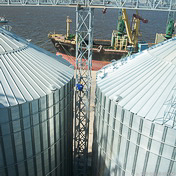 Repair and restoration work of galvanized surface (Nikolayev port)